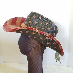 Patriotic Cowboy Cowgirl Western Hat